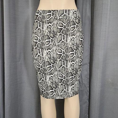 Snake Side-Slit Drawstring Skirt