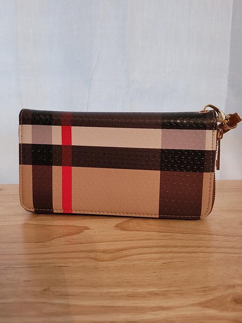 Tartan Striped Wallet Tan