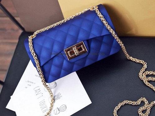 Sweet Candy Jelly Handbags Blue