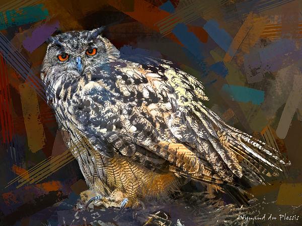Bird Photo Art - European Eagle Owl - fine art prints on the Art Print Media of your choice