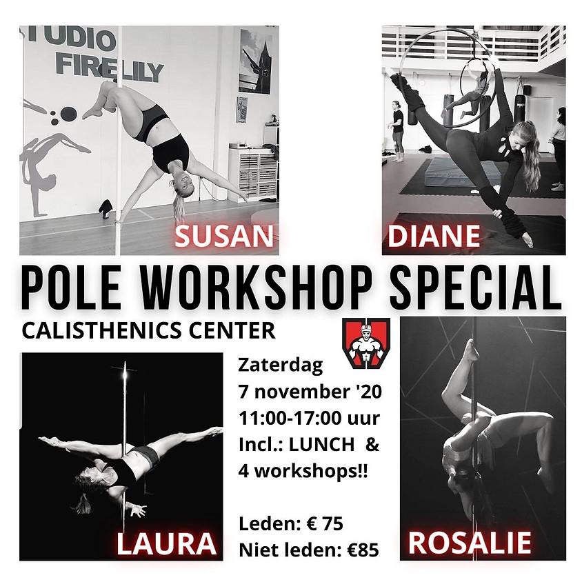 Pole Workshop Special - 4 workshops een heerlijke lunch & FUN!