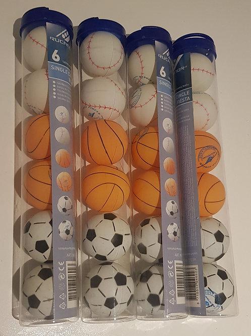 Tafel tennis 6 ballen