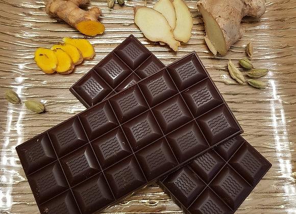 שוקולד רואו 80% ג'ינגר כורכום