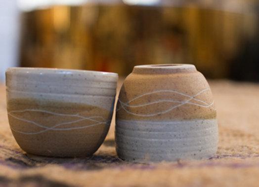 2 tasses expresso poterie