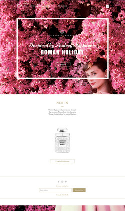 Roman Holiday Website
