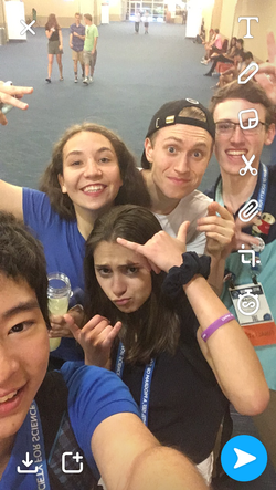 International selfie
