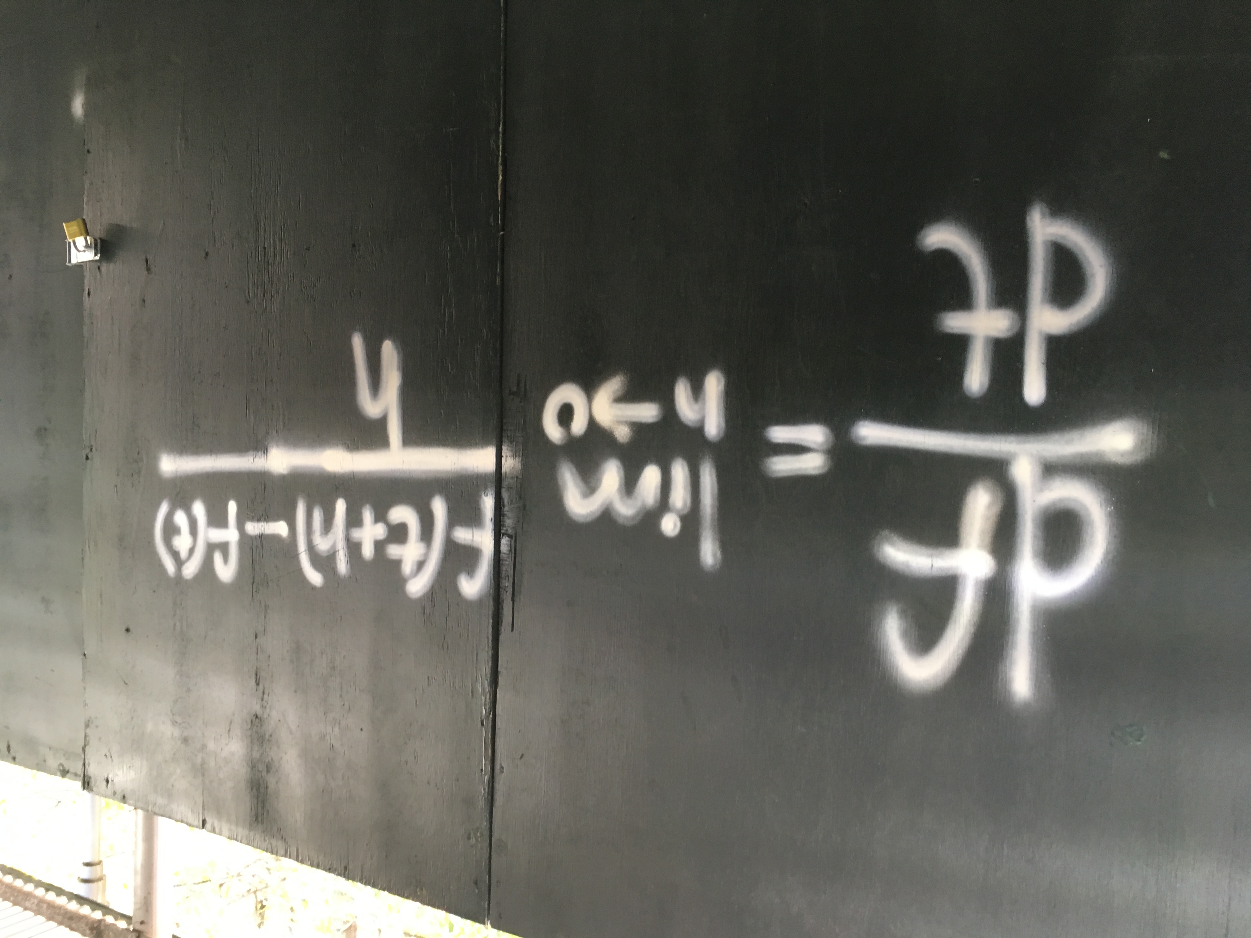 Mathematical Graffiti found in NYC