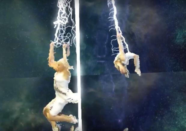 Nuanc3d VR, screen capture of the show
