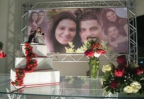 banner para festa de casamento
