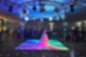 aluguel de pista de dança de led para casamento