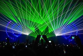 raio laser para festa de casamento