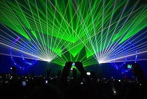 Laser show, efeitos com raio laser