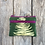 Thumbnail: Small Double Zipper Pouch in Green with Sword Fern Design