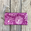 Thumbnail: Long Zipper Pouch in Fuchsia Pink with Queen Anne's Lace Flower Design