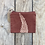 Thumbnail: Small Zipper Pouch in Brown with Alaskan Fern Design