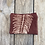 Thumbnail: Small Double Zipper Pouch in Brown with Alaskan Fern Design