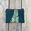 Thumbnail: Small Double Zipper Pouch in Teal Blue with Alaskan Fern Design