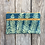 Thumbnail: Long Double Zipper Pouch in Sly Blue with Maidenhair Fern Design