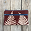 Thumbnail: Long Double Zipper Pouch in Brown with Shield Fern Design
