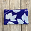 Thumbnail: Long Double Zipper Pouch in Purple with Snow on the Mountain Leaf Design