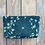 Thumbnail: Cosmetics Pouch in Teal Blue with Queen Annes Lace Flower Design