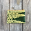 Thumbnail: Small Double Zipper Pouch in Green with Autumn Fern Design