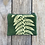Thumbnail: Small Double Zipper Pouch in Green with Shield Fern Design
