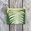 Thumbnail: Small Zipper Pouch in Green with Sword Fern Design