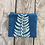 Thumbnail: Small Zipper Pouch in Sky Blue with Shield Fern Design
