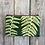 Thumbnail: Long Double Zipper Pouch in Green with Shield Fern Design