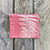 Thumbnail: Small Zipper Pouch in Pink with Sword Fern Design