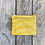 Thumbnail: Small Zipper Pouch in Yellow with Autumn Fern Design