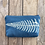 Thumbnail: Cosmetics Pouch in Sky Blue with Shield Fern Design