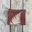 Thumbnail: Small Zipper Pouch in Brown with Sword Fern Design