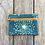 Thumbnail: Small Double Zipper Pouch in Sky Blue with Queen Anne's Lace Flower Design