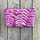 Thumbnail: Cosmetics Pouch in Fuchsia Pink with Shield Fern Design