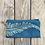 Thumbnail: Long Zipper Pouch in Sky Blue with Alaskan Fern Design