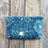 Thumbnail: Cosmetics Pouch in Sky Blue with Queen Annes Lace Flower Design