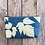 Thumbnail: Cosmetics Pouch in Sky Blue with Salmonberry Leaf Design
