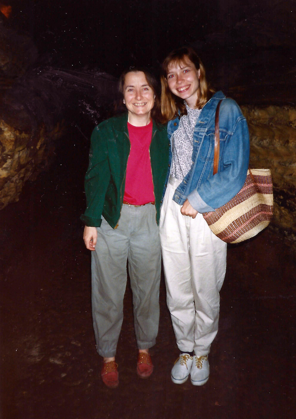 Beata and me in the cave, Hannibal, MO. She, her husband Jim and I took a road trip down from Iowa City and Read Tom Sawyer on the way down; she had never heard of the book.