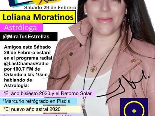 Loliana Moratinos Astrología en Radio Más 100.7 FM Orlando
