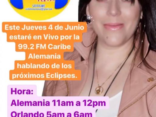 #Radio Hola Amigos este Jueves 4 de Junio 2020 estaré en Vivo por la 99.2 FM Caribe Alemania