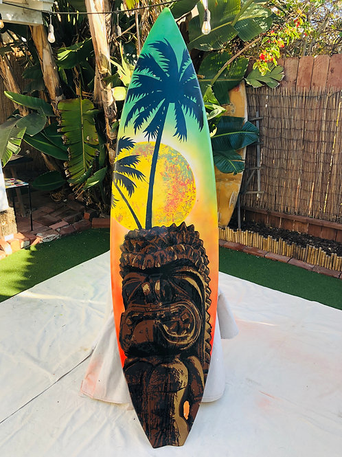 Tiki God Surfboard
