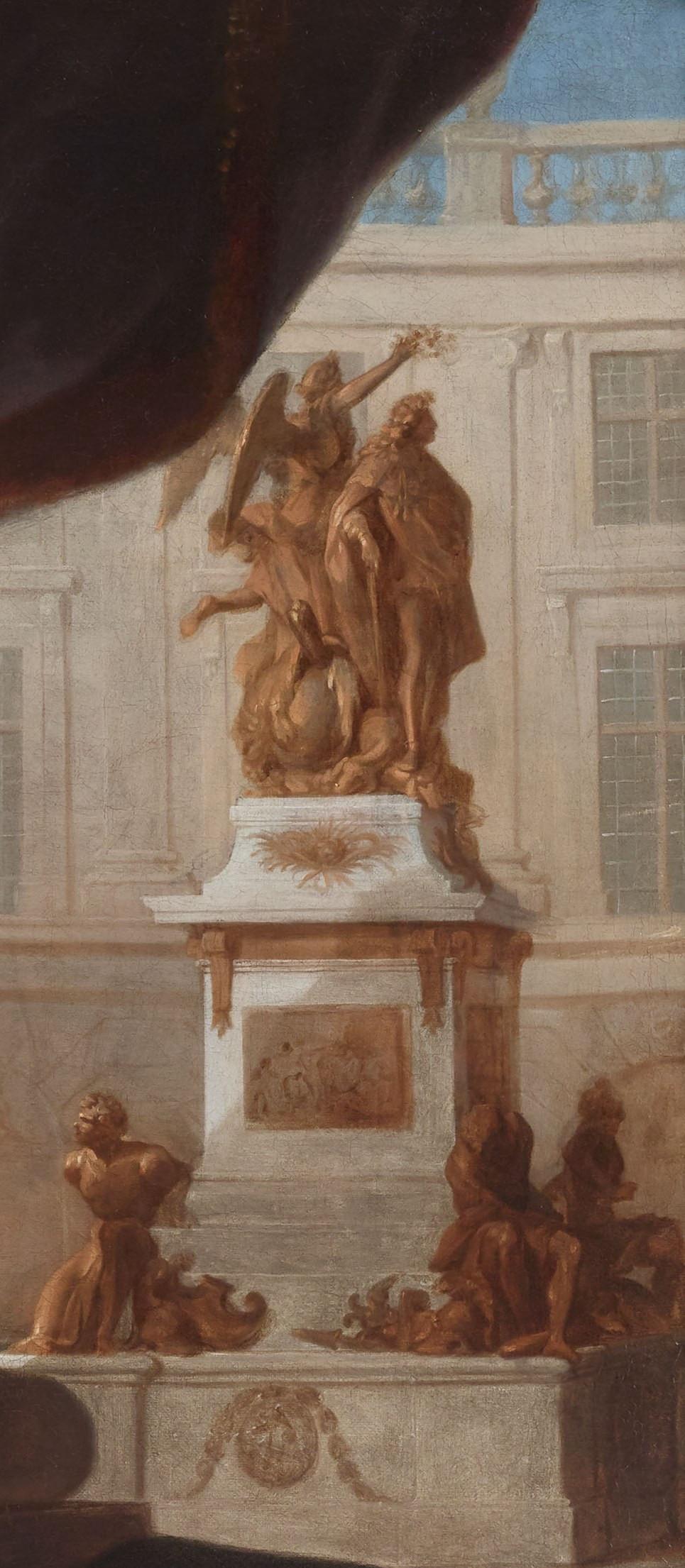 Hyacinthe Rigaud, Portrait du sculpteur Martin van den Bogaert dit Desjardins, vers 1686, détail, Paris, Galerie Didier Aaron