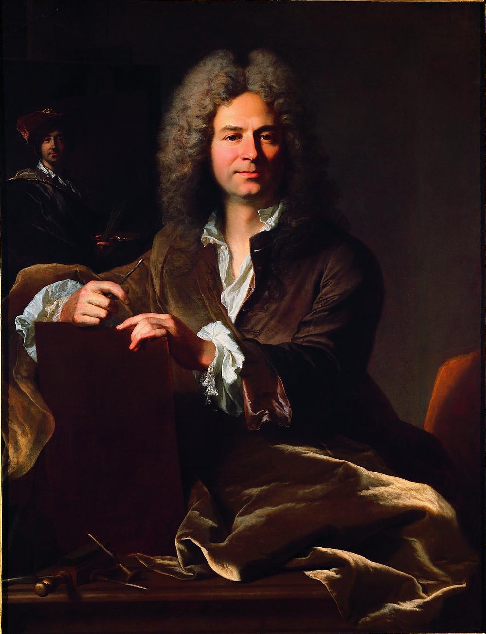 Hyacinthe Rigaud, Portrait de Pierre Drevet, vers 1700, Lyon, musée des Beaux-Arts, inv. A 2865
