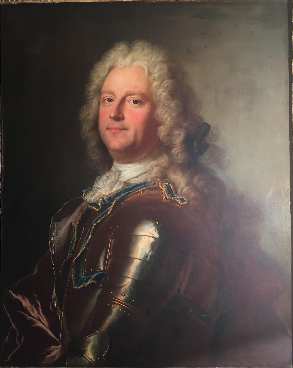 Hyacinthe Rigaud et atelier, Portrait de François Asselin, chevalier de Frenelle, 1715, collection particulière