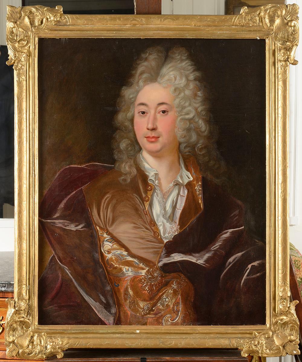 Anonyme d'après Hyacinthe Rigaud, Portrait d'un homme, après 1715-1722, collection particulière