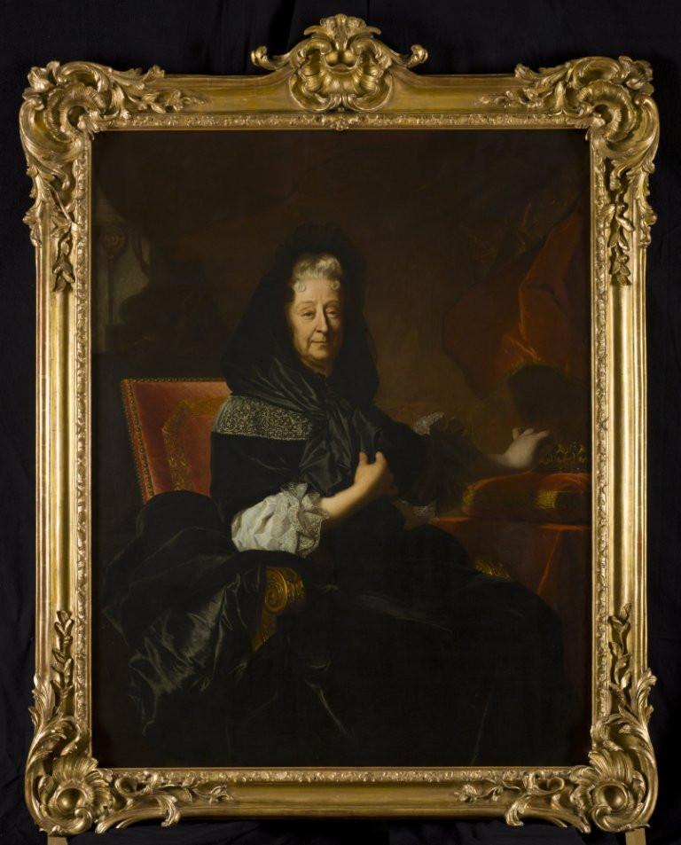Hyacinthe Rigaud, Portrait de Marie d'Orléans, duchesse de Nemours, 1705, Lausanne, musée cantonal des Beaux-Arts, inv. 1955-003