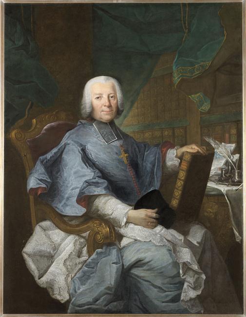 Joachim Rupalley, Portrait de Pierre Jules César de Rochechouart-Montigny, évêque de Bayeux, 1771, Bayeux, musée d'Art et d'Histoire Baron Gérard, inv. P0153