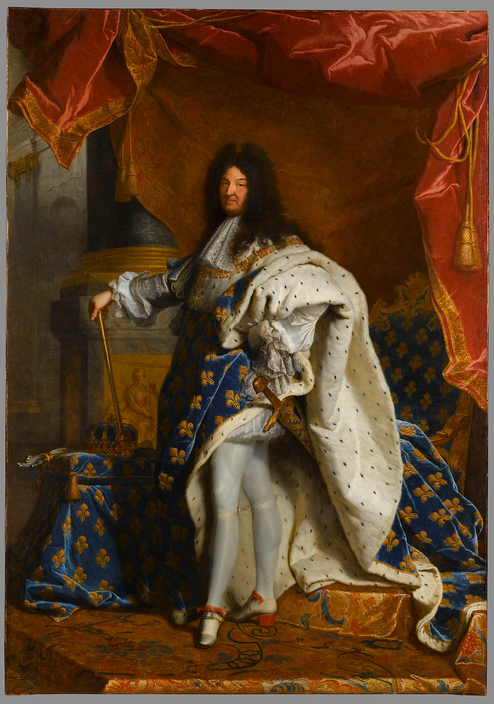 Hyacinthe Rigaud, Portrait de Louis XIV en grand costume royal, 1701-1702, Paris, musée du Louvre, inv. 7492
